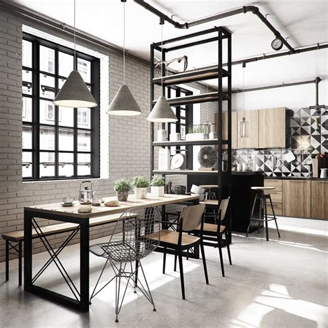 Industrial Style Dining Room Design The Essential Guide Industrial Dining Room Lighting