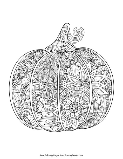 detailed pumpkin coloring pages zentangle pumpkin coloring page printable fall coloring