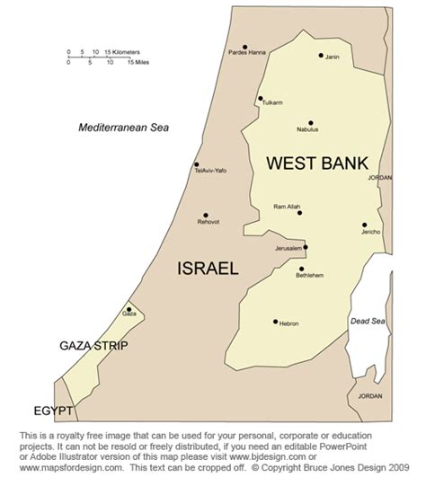 west bank map free middle east and central asia countries printable royalty free jpg downloadable