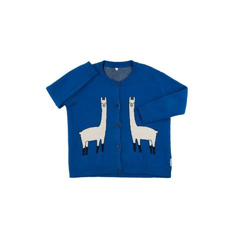 Kaos Sale 2y llama cardigan blue beige citzzy