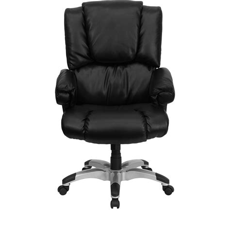 Desk Chairs High Back Black Leather Overstuffed Executive Office Soapp Culture High Back Black Leather Overstuffed Executive Office Chair Go 958 Bk Gg