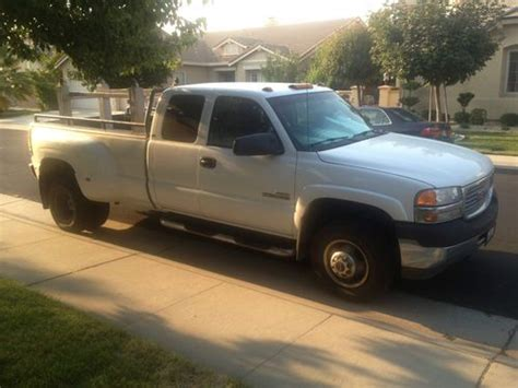 buy used 2001 gmc sierra 3500 slt extended cab pickup 4 door 6 6l diesel 4x4 in roseville