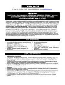 Construction Management Resume Templates by Top Construction Resume Templates Sles