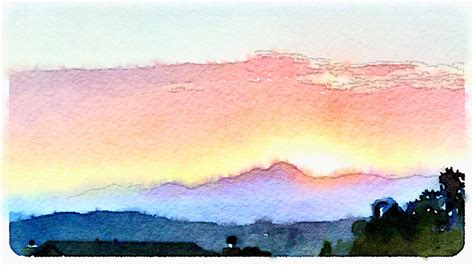 water color sunset sunset watercolor effect jeff turner flickr