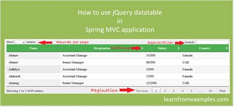 include layout in view mvc how to use jquery datatable in spring mvc application
