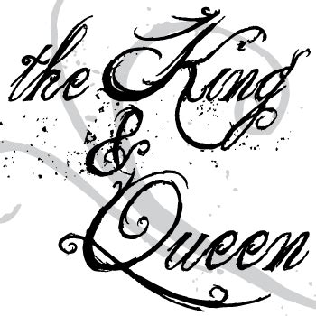 tattoo fonts king and queen the king and font font a day