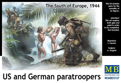 Masterbox 3562 West European Cart us and german paratroopers the south of europe 1944 1 35