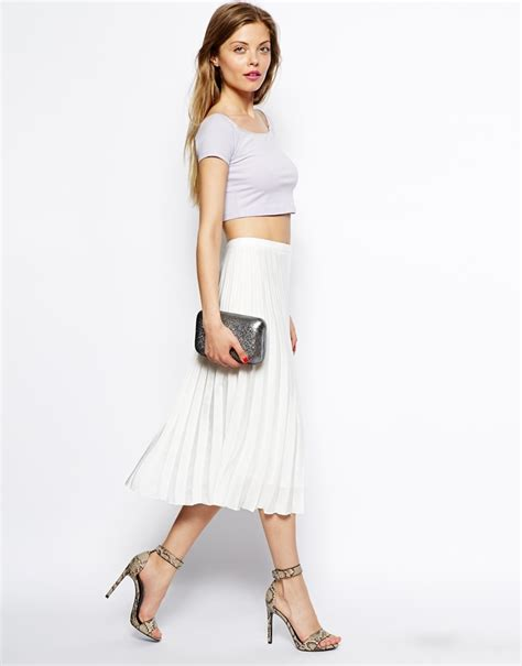 asos pleated midi skirt where to buy how to wear