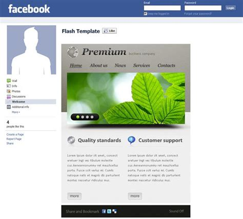 templates for facebook business page facebook corporate and business templates showcase