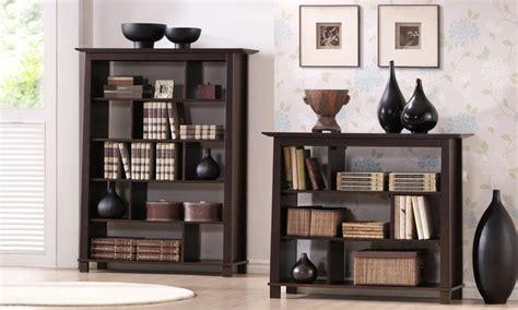 havana brown wood tall bookcase modern bookcases by havana modern wood bookcase groupon goods