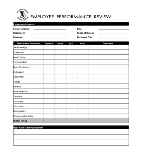 performance evaluation forms 10 sle performance evaluation forms sle forms
