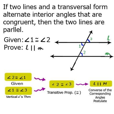 3 2 proving the converse of the alternate interior angles