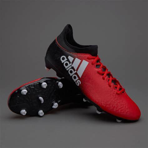 adidas x 16 3 fg junior boots firm ground white black