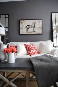 Grey Home Decor 30 Grey And Coral Home D 233 Cor Ideas Digsdigs
