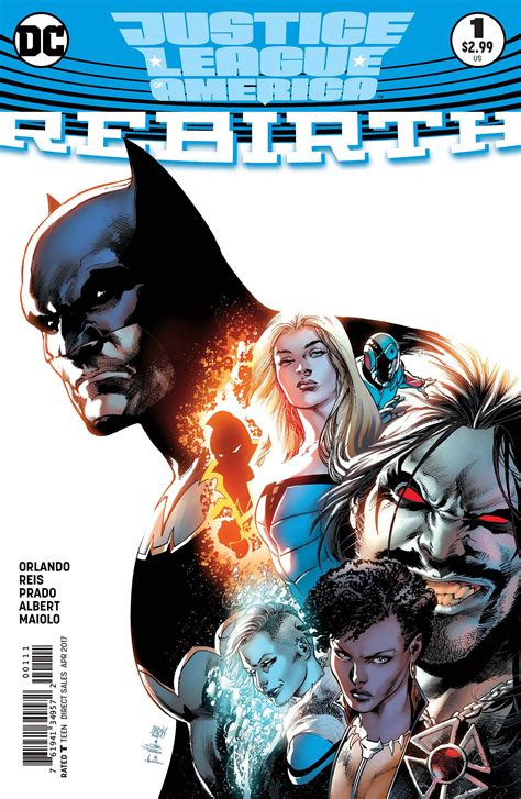 justice league of america justice league of america rebirth 1 weekly comic book