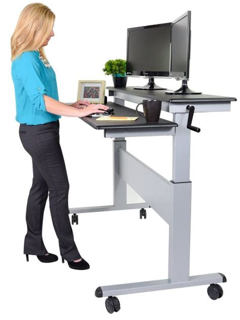standing rolling desk best height adjustable standing desk reviews top 10