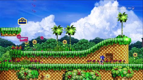 themes zone update sonic 4 ps3 dynamic theme coming to playstation