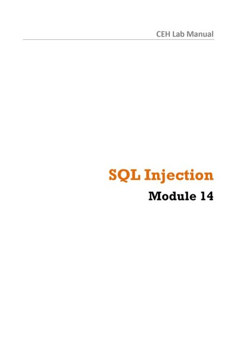 Sql Injection Documentation
