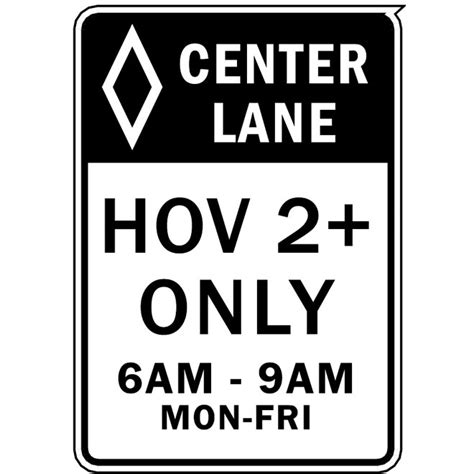 High Occupancy Vehicle Lane Sign Download At Vectorportal Occupancy Sign Template