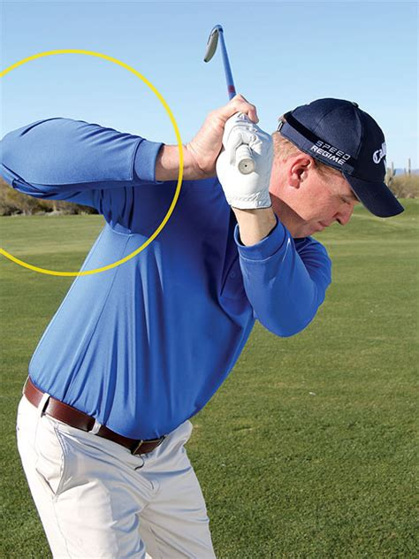 flying right elbow golf swing the swing body connection golf tips magazine