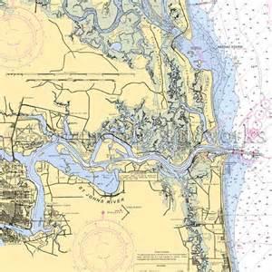 florida jacksonville nautical chart decor