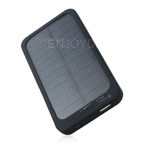 solar powered phone new 5000mah portable solar powered charger rechargeable mobile phone power bank ebay