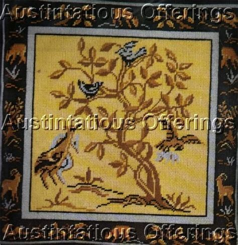 traditional needlepoint kits traditional tree of tapestry needlepoint pillow kit