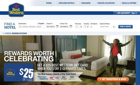 Best Western Gift Card - no fees on gift cards 50 from rocketmiles and more