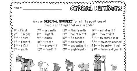 Ordinal Numbers Worksheet Grade 1 Pdf