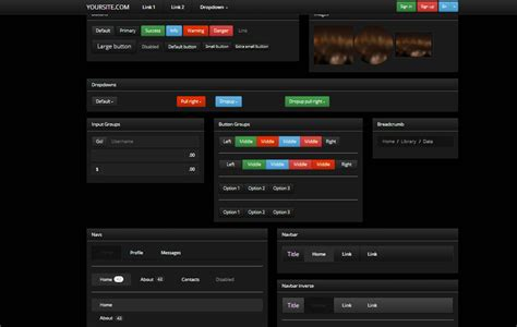 bootstrap themes ui bootstrap 3 0 theme classic dark ui bootstrap themes on
