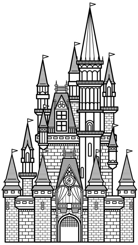 Disney World Castle Outline by Disney Castle Outline Drawing
