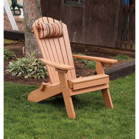 polywood adirondack chair with pull out ottoman poly folding reclining fanback adirondack