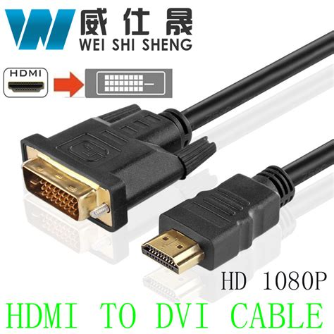 Hdmi To Dvi D Cable 1 5m hdmi to dvi cable gold plated dvi cables 5m 3m 2m 1m dvi d 24 1 pin adapter high speed 3d