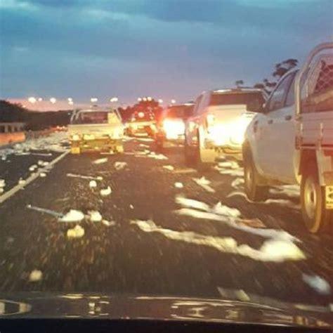 toilet paper spill  traffic delays  melbourne melbourne toilet paper toilet