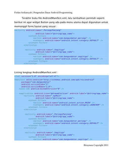 tilan layout presentasi pada menu view 372 dasar pengenalan android programming