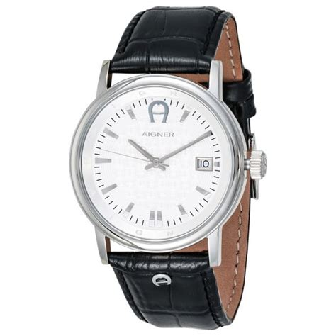 Aigner Palermo Chrono A58514 aigner linate 039 s silver leather band