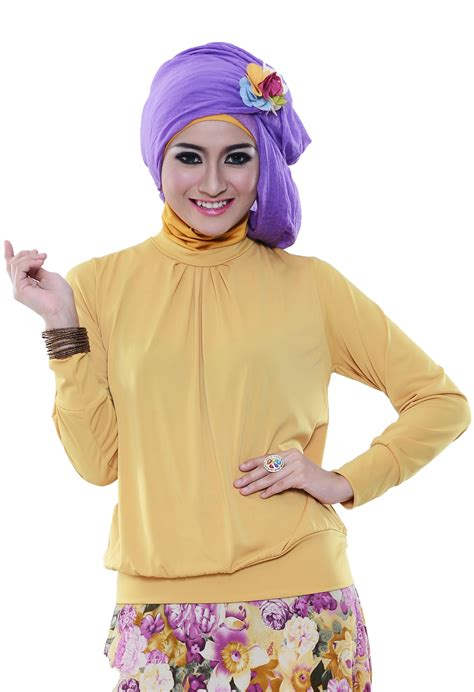 Baju Atasan Wanita Anstey Jersey Silang Magenta baju atasan untuk remaja