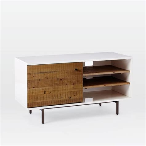 west elm media cabinet reclaimed wood lacquer media console 48 quot west elm