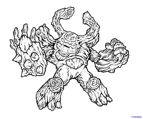 coloring page tree rex skylanders tree rex free colouring pages