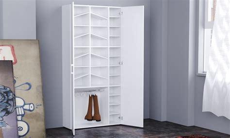 scarpiera ad armadio armadio scarpiera bianco lucido groupon goods