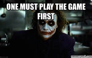 Meme The Game - one must play the game first