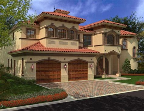 palatial two story master suite in mediterranean style mediterranean house plan 4 bedrooms 4 bath 6835 sq ft