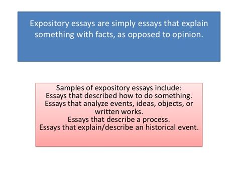 Tips For Writing Expository Essays by Expository Essays