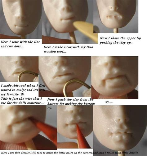 ooak doll guild lip tutorial how to sculpt for doll by maryna