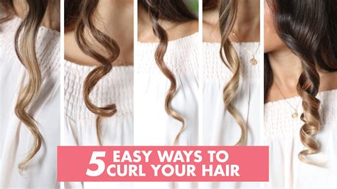 different styles or ways to fix human hair 5 easy ways to curl your hair luxy hair youtube