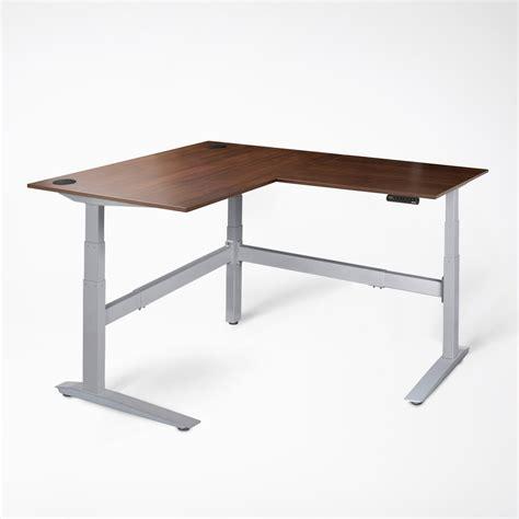 bamboo standing desk jarvis l shaped standing desk the corner desk fully