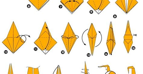 Origami Monkey Diagram - origami de singe origami origami monkey