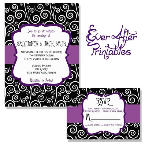 nightmare before christmas wedding invitations christmas