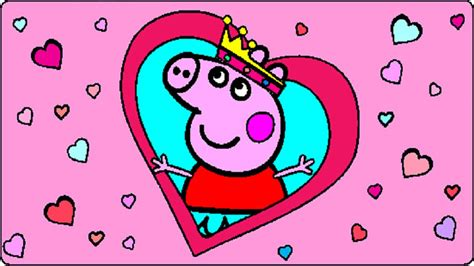 peppa pig valentines coloring page peppa pig coloring pages for kids peppa pig coloring