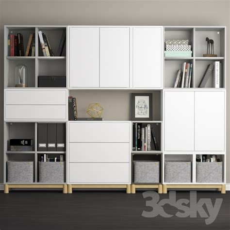 ikea eket 3d models other the combination of cabinets with legs